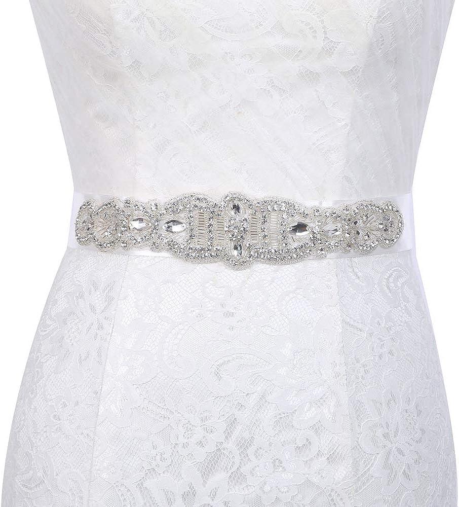 Lady Women Long Bridal Tie Ribbon Sash Belt for Formal Wedding Bridesmaid Dress