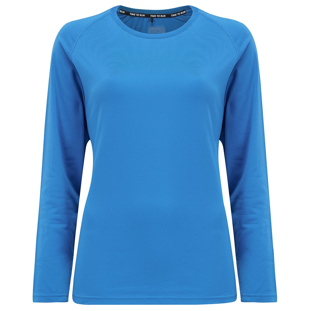 Time To Run Camiseta T/érmica y Ligera De Running con Cuello Redondo para Mujer
