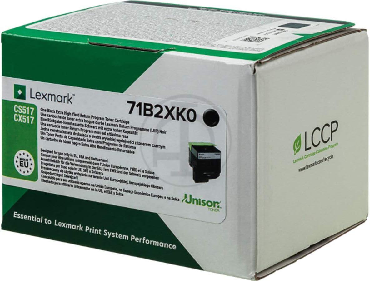 Lexmark Original Lexmark Cx 517 De 71b2xk0 Toner Schwarz 8 000 Seiten Bürobedarf Schreibwaren