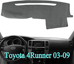 AKMOTOR Dash Cover Dashboard Cover Mat Pad for Toyota 4Runner 2003 2004 2005 2006 2007 2008 2009 (Gray) Y17