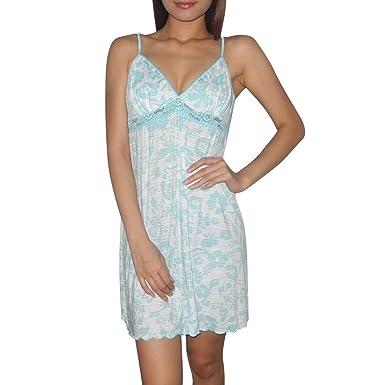 Womens Secret Treasures Sexy Gorgeous Sleepwear Dress / Pajama Nightgown - Blue & White (Size