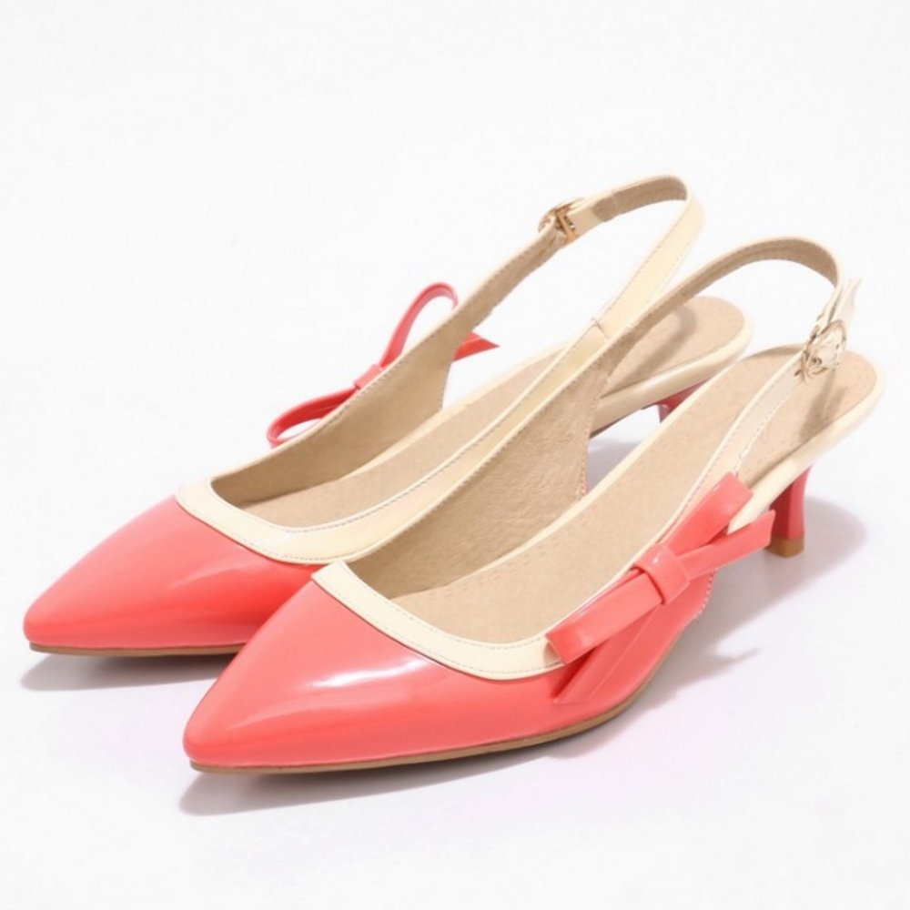 FANIMILA Women Slingback Sandals 22.5 Pointy B07D11Q72T 4 US = 22.5 Sandals CM|Watermelon 1c047a