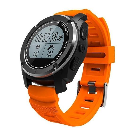 Reloj Elegante Bluetooth al Aire Libre Relojes Inteligentes Posición Profesional del GPS Carrera de montaña Jogging Temperatura del Ritmo cardíaco Presión ...