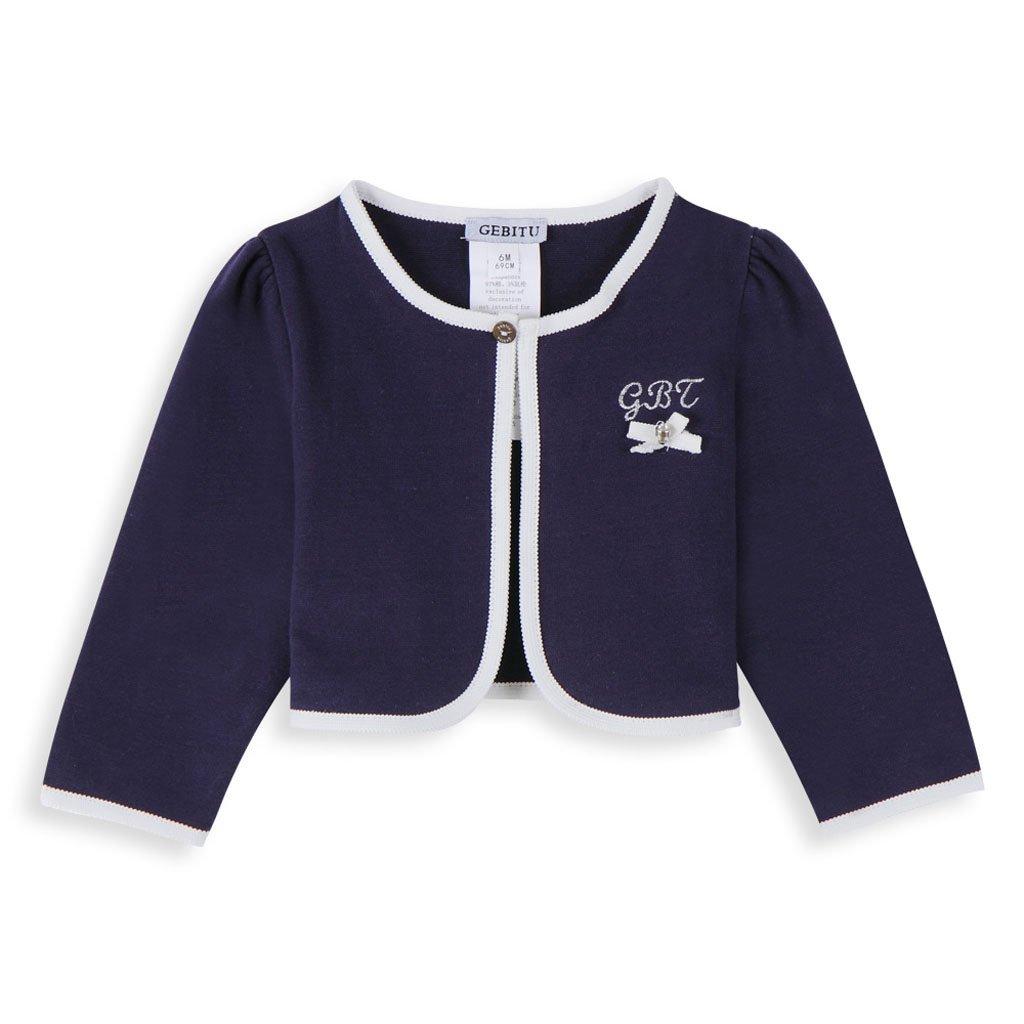 GEBITU Baby Girl's Round Neckline Coat G3-15-3-5238