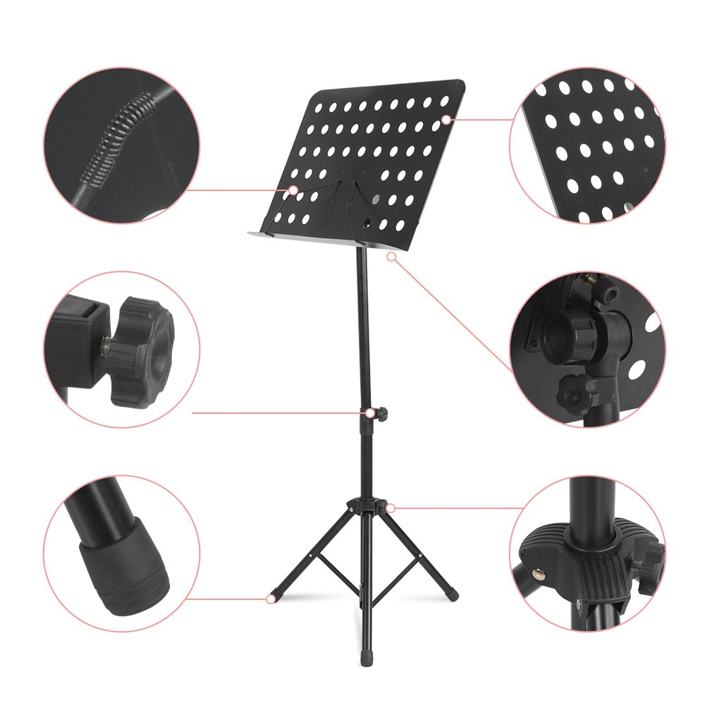 Apelila Folding Music Stand - Adjustable Tripod Stand Holder with Bag