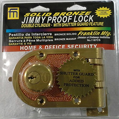 Jimmy Proof Lock Double Cylinder