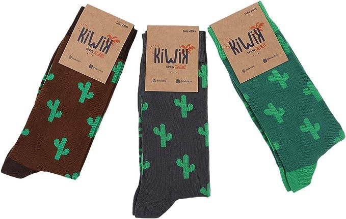Kiwik Pack de 3 calcetines unisex de algodón con divertidos estampados y diseños únicos.: Amazon.es: Ropa y accesorios