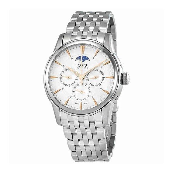 Oris Artelier Complicación fase de la luna 40,5 mm reloj para hombre 58276894021 MB: Amazon.es: Relojes