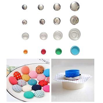 Justdolife 30 Sets Kits De Botones Cubiertos Kits De Bricolaje para Manualidades con 3 Juegos De Herramientas De Ensamblaje: Amazon.es: Hogar