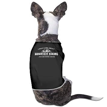 Yo sólo care about ciclismo de montaña perro Jersey abrigos perro chaqueta camiseta: Amazon.es: Productos para mascotas