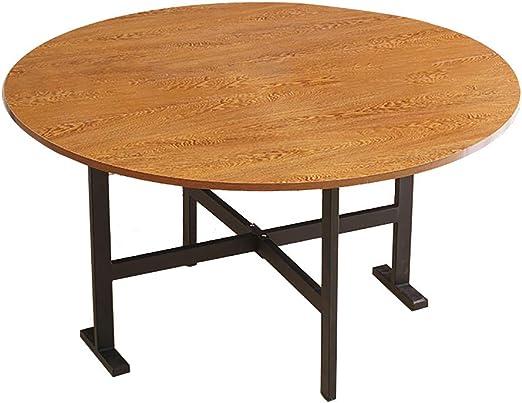 DIOE Mesa redonda de hoja abatible, mesa de acento plegable para ...