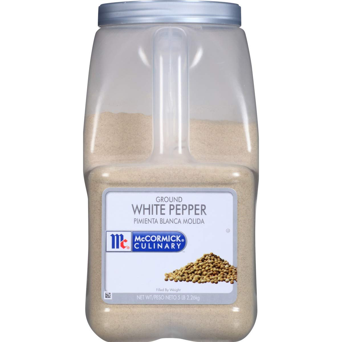 McCormick Ground White Pepper - 5 lb. container, 3 per case