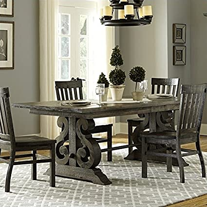 ae2c18fefc5 Amazon.com - Magnussen Bellamy Wood Rectangular Dining Table in Pine -  Tables