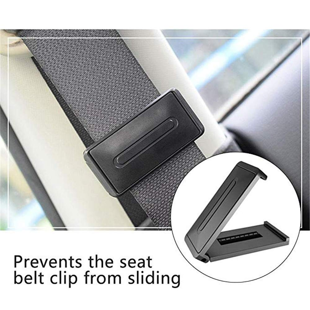 2 PC El Ajustador Del Cintur/ón De Seguridad Del Coche Elegante Ajusta Los Cinturones De Seguridad Para Relajar El Cuello Del Hombro Le Da Una Experiencia C/ómoda Y Segura