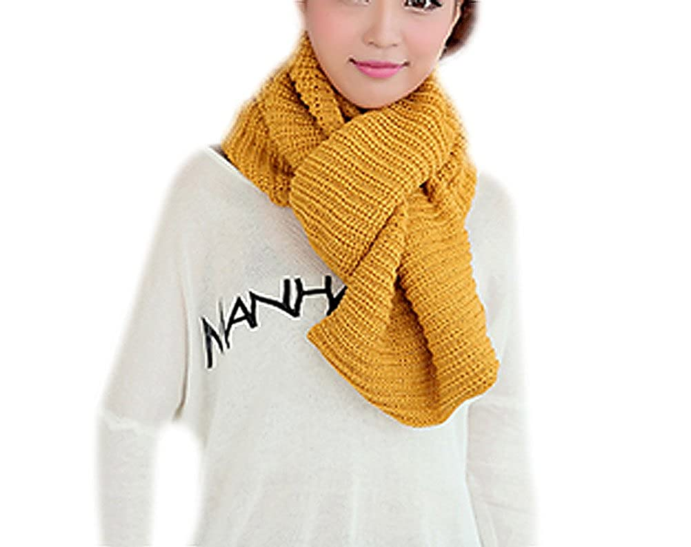 IvyFlair Winter Soft Solid Color Thick Warm Rib Knit Infinity Circle Loop Scarf