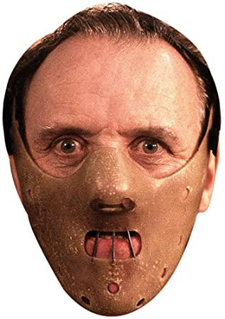 Hannibal Lecter cardboard mask: Amazon co uk: Toys & Games
