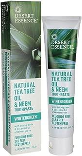 product image for Desert Essence Toothpaste, Tea Tree, Mint, 6.25 oz.