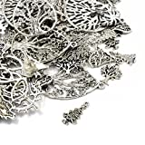 Pack 30 Grams Antique Silver Tibetan Random Shapes & Sizes Charms (TREE) - (HA07070) - Charming Beads