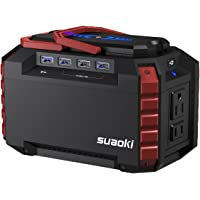 Suaoki S270 150 Watt Solar Battery Portable Generator with Dual 110V AC Outlet, 4 DC Ports, 4 USB Ports, LED Flashlights