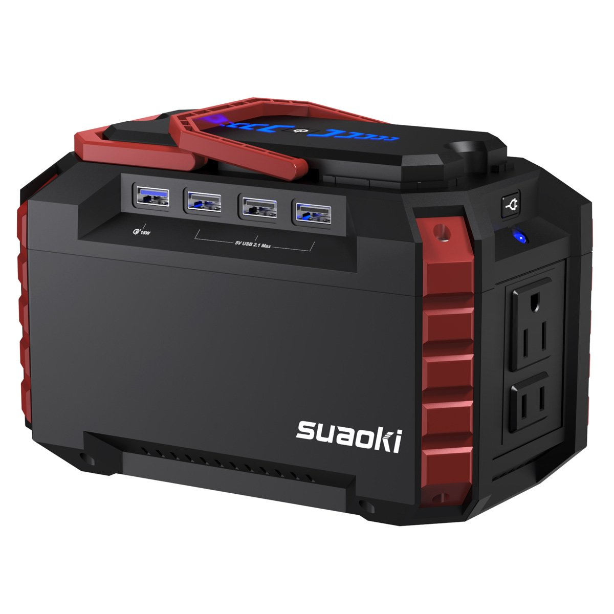 Elegant SUAOKI Portable Power Station 150Wh Quiet Gas Free Solar Generator QC3.0  UPS Lithium Power