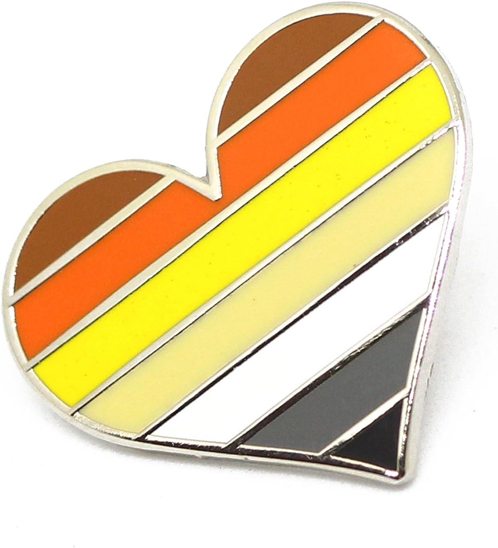 I Love Gay Pride Gold Tone Metal /& Enamel Heart LGBTQ Lapel Pin