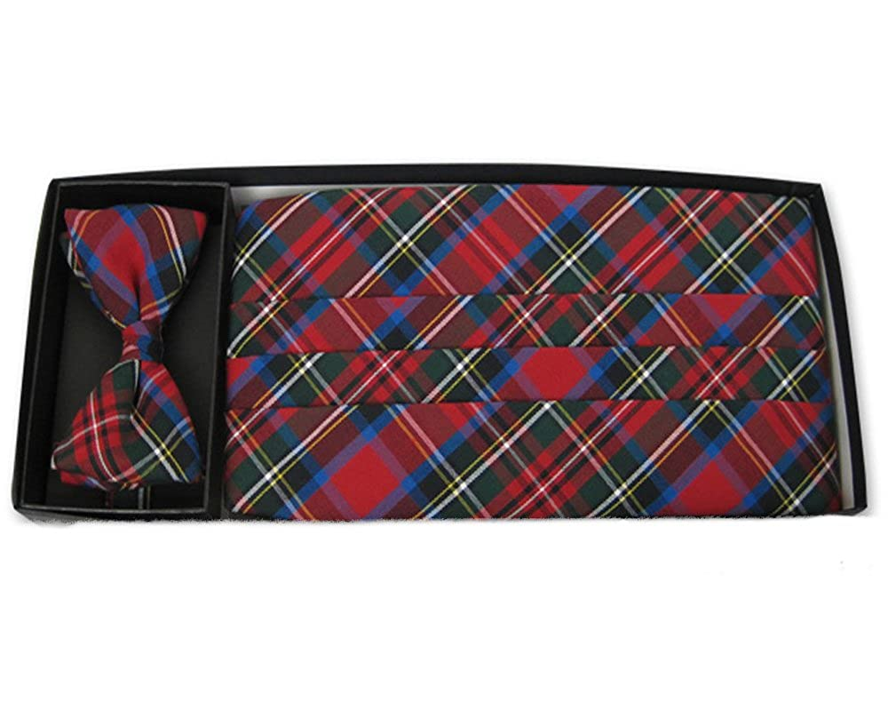 Merry Plaid Bow Tie and Cummerbund Set