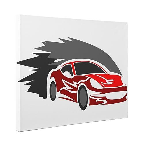 Amazon.com: Red Race Car CANVAS Wall Art Home Décor: Handmade