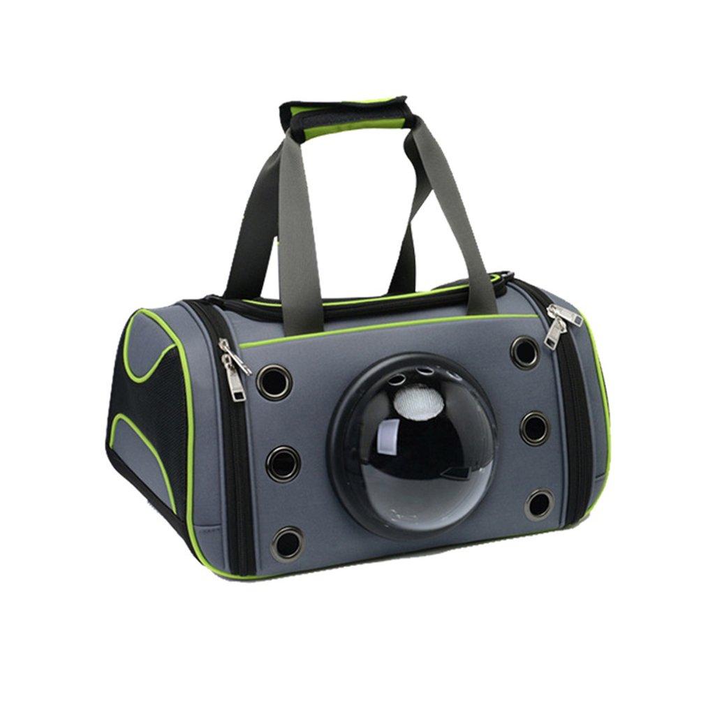 L-XFLX Dog Puppy Carrier Bubble Travel Bag Outdoor Portable Shoulder Carry Bag Handbag 44X26X26cm
