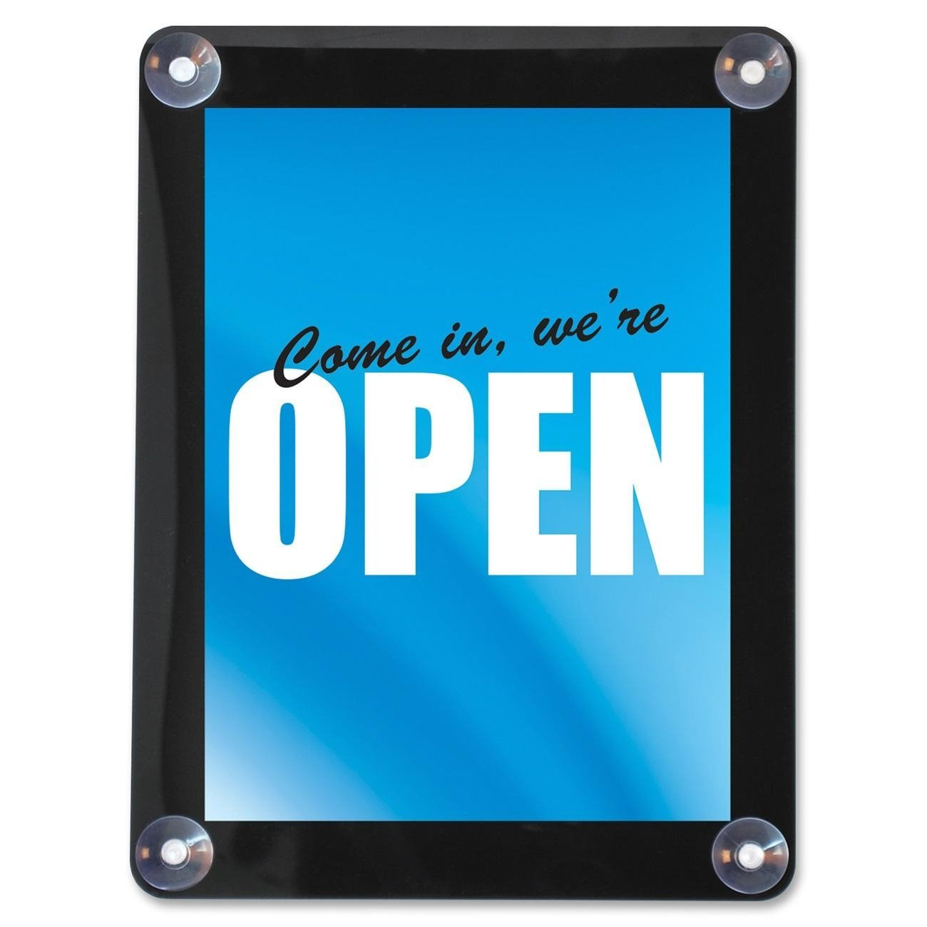 Xcdiscount Deflecto 899102 Double-Sided Window Display Sign, 8-1/2''x11'', Clear
