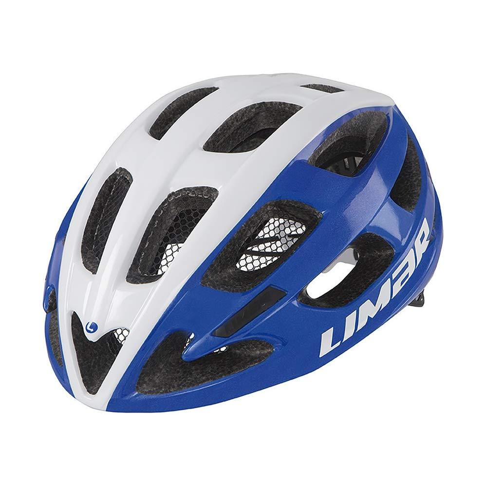 Limar Fahrradhelm Ultralight Lux Gr.M 50-57cm Weiss blau ca. 200g Fahrrad
