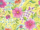Pack of 1, Fantasy Floral 26'' x 417' Half Ream Roll Gift Wrap for Holiday, Party, Kids' Birthday, Wedding & Special Occasion Packaging