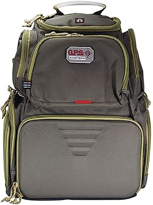 G.P.S Handgunner Backpack Range Bag, Green/Khaki