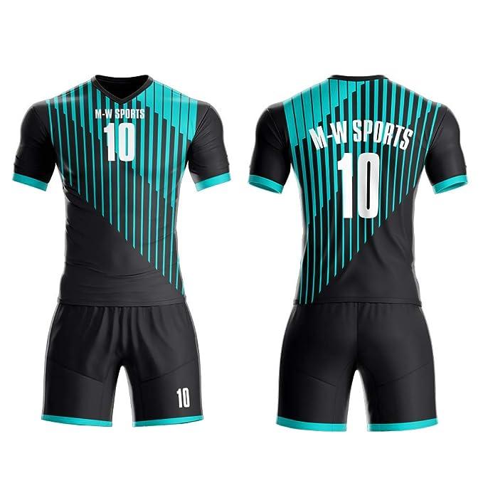 promo code a7927 b77c5 Amazon.com: M-W Sports Purple Soccer Jerseys Full kit Custom ...