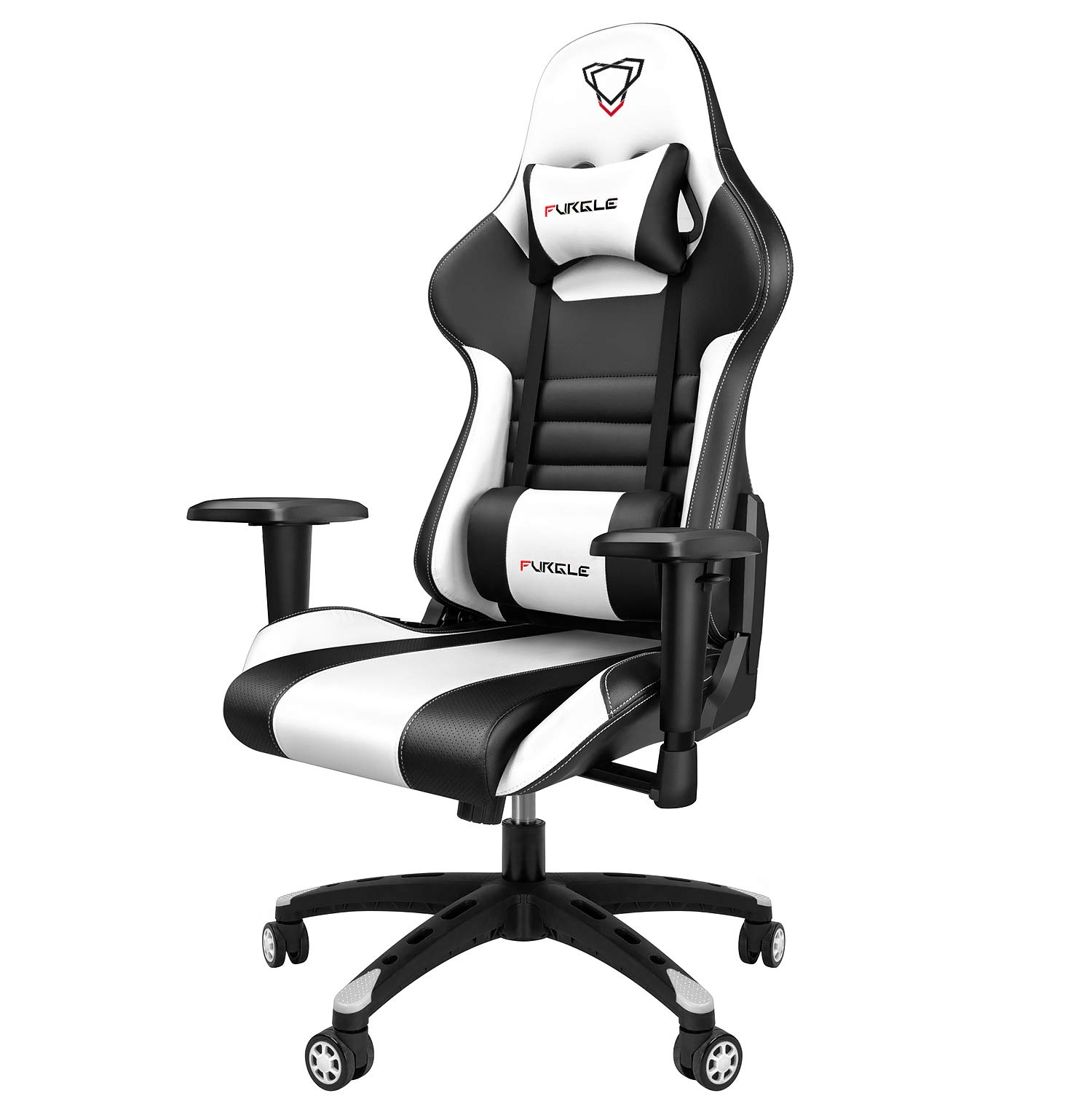 KASORIX Gaming Chairs High Back Computer Chair of Professional Racing Style Comfortable Gamer Chair with Footrest and Massage Backrest and Lumbar Pillows(8512-black)