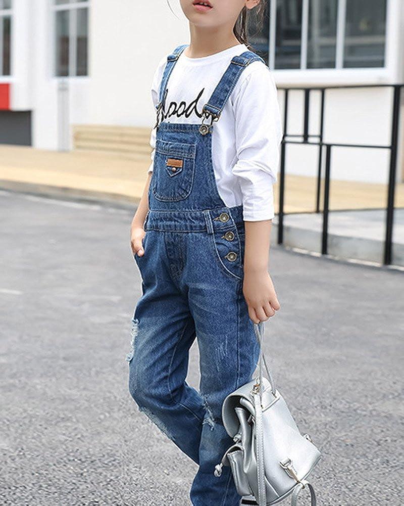 GladiolusA Salopette per Bambini Salopette Bambini Pantaloni Lunghe Jeans Tuta Overalls Denim Ragazze