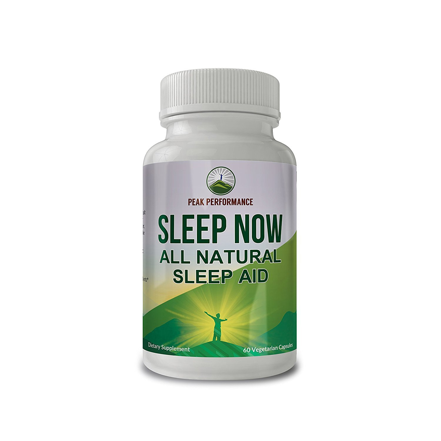 Sleep Now - All Natural Non Habit Forming Sleep AID Supplement by Peak Performance for Calm Sleep, Wake Up Refreshed. with Chamomile, GABA, Melatonin, Valerian Root, Lemon Balm and More