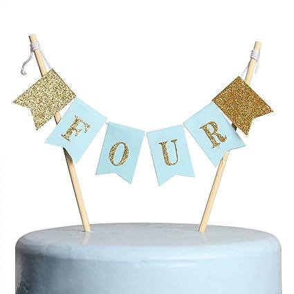 Amazon INNORU Handmade 4th Birthday Cake Topper