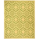 "Safavieh Chelsea Collection HK356C Hand-Hooked Beige and Green Wool Area Rug, 8 feet 9 inches by 11 feet 9 inches (8'9"" x 11'9"")"