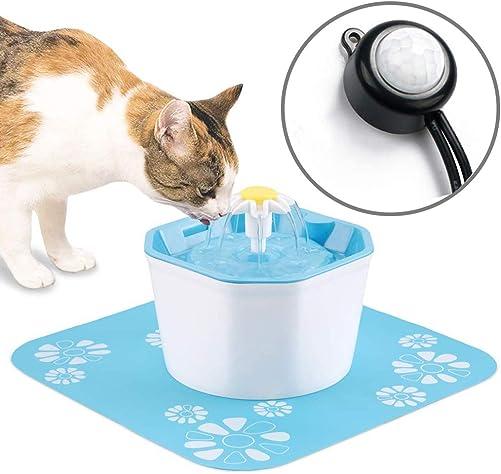 Aomomy Cat Dog Automatic Start Stop Water Fountain Infrared Sensor Drinking Flower Fountain Pet Water Dispenser Super Energy Saving