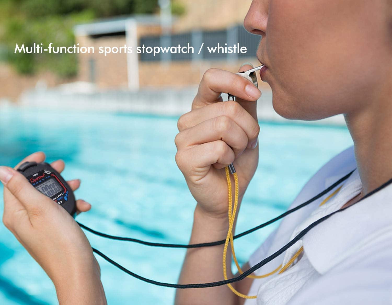 Corsa Zaleonline Cronometro Digitale Palestra e Sport allAria Aperta Pallacanestro Nuoto Cronometro Allarme Sport Portatile con Fischietto per Calcio
