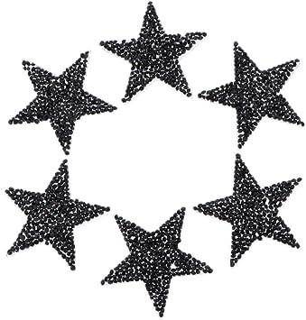 Hellery 6pcs Parche con Lentejuelas Aplique de Costura Pegatinas Forma de Estrella Calcomanías de Lentejuelas para Manualidad/DIY: Amazon.es: Hogar