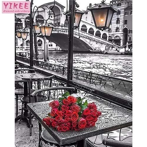 KYKDY dekorative bilder meer landschaftsfarben nach zahlen, für wohnzimmer, bilder nach zahlen, 40x50cm kein rahmen, pinsel B07NYR9HRF | Vielfalt