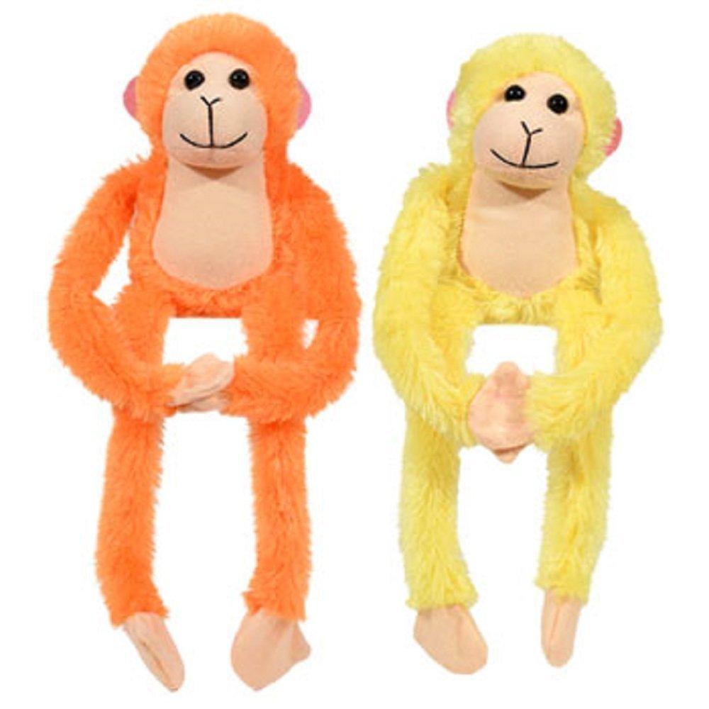Amazon Com Set Of 4 13 Plush Hanging Monkeys With Hands Toys