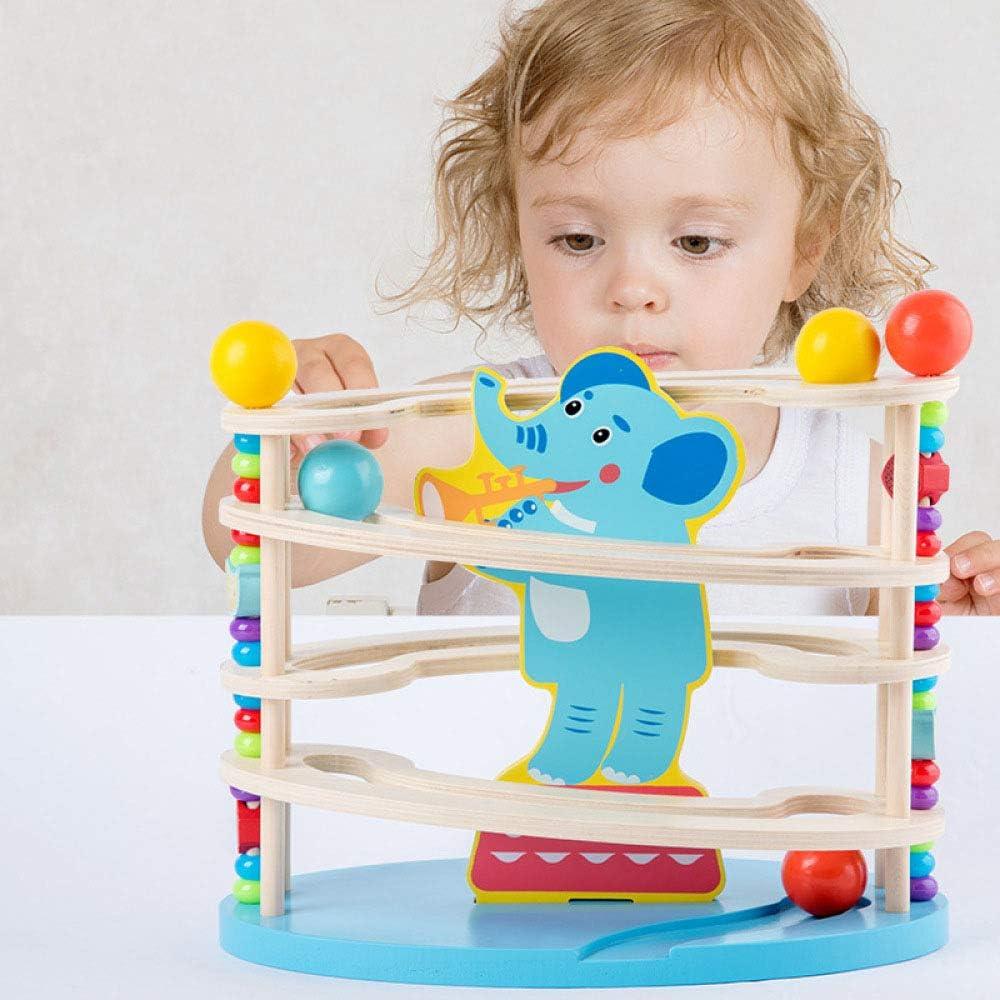 QXMEI Juguete para Bebés Bloque De Madera Pista De Bolas Juego De ...