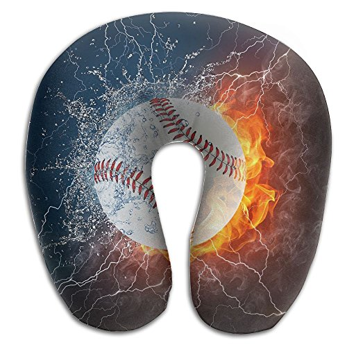 U-Shaped Pillow Neck Shoulder Body Care Baseball Ice And Fire Health Soft U-Pillow For Home Travel Flight Unisex Supportive -