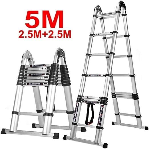 XYQB Escalera Telescópica de Aluminio, Escalera Plegable Elevación Doméstica Escalera Telescópica de Uso Pesado Multipropósito 330 LB CapacidadXYQB: Amazon.es: Hogar