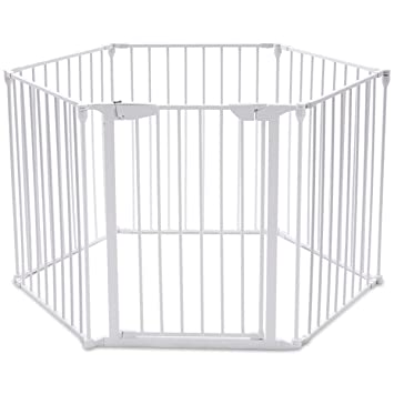 Amazon Com Costzon Baby Safety Gate 4 In 1 Fireplace Fence Wide