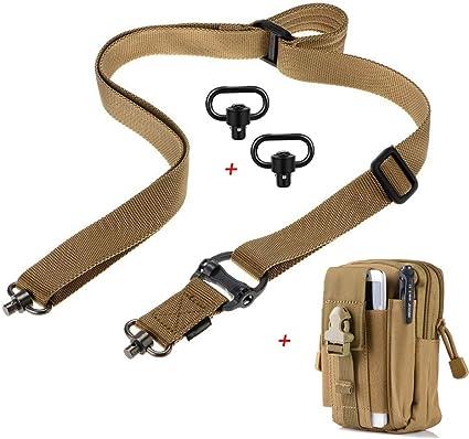 Nylon Belt Adjust Shoulder Strap W//QD Sling Swivels mount for Rifle gun Hunting