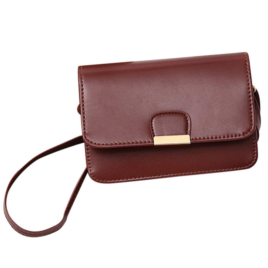 3c13d79a33ac ChainSee Fashion Simplicity Leather Messenger Shoulder Bag Hasp Cross body  Handbag Tote Purses for Women Girl (Brown)