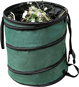 Outdoor supplies Collapsible 57L/127L Garden Waste Bag Bucket Heavy Duty Garden Sacks, Pop-up Reusable Yard Lawn Leaf Bag Leaves Collector Container Tote